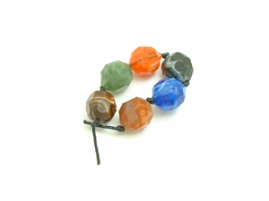 6 Acrylic Mixed Large Beads