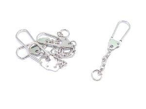 10 Bag Charm/Keyring Hangers (Small)