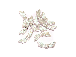 100 Dragonfly Wings Antique Silver Colour