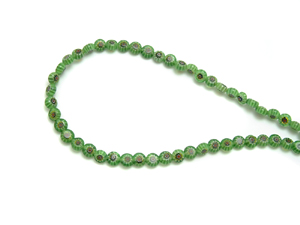 Glass Green Beaded String