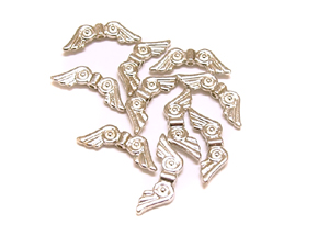 10 Angel Wing Beads