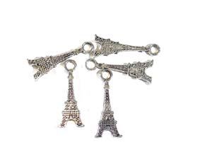 5 Eiffel Tower Pendants
